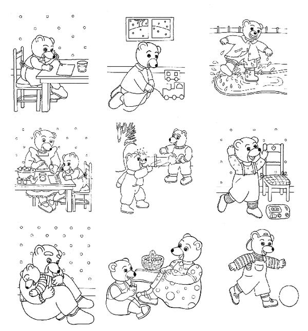 Coloriage petites images a colorier - Coloriage de ours ...