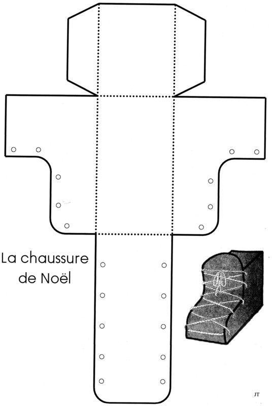 La chaussure de noel centerblog - Bricolage chaussette de noel ...