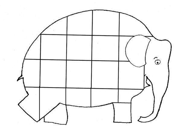 Coloriage Elmer Lelephant A Imprimer.Janna Elmer L Elephant