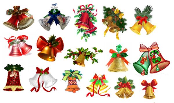 GOMMETTES PAPIERS / les cloches de Noël