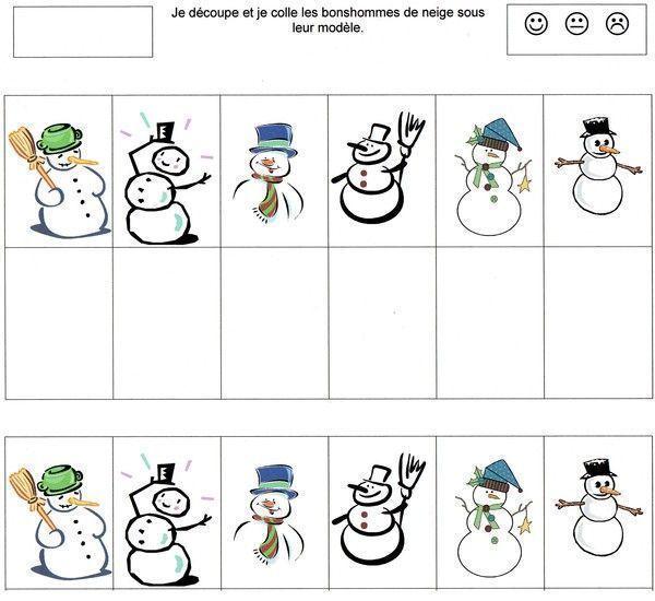 Janna collage hiver centerblog - Modele bonhomme de neige ...