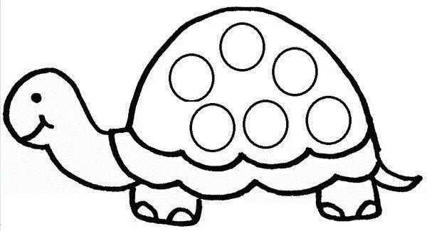 Janna collage de gommettes - Comment dessiner une tortue ...