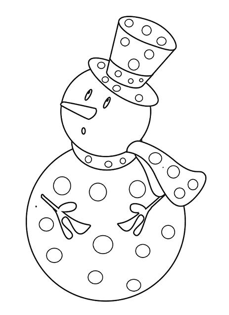 Hivers activites page 4 - Bonhomme de neige coloriage ...