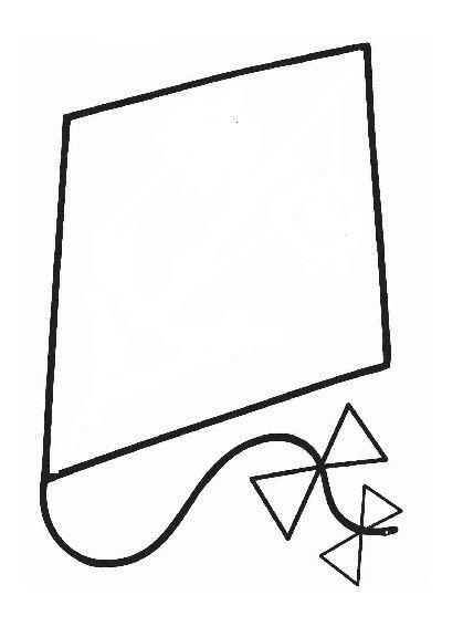 Le cerf volant bricolage cerf volant papier calque - Coloriage bricolage ...