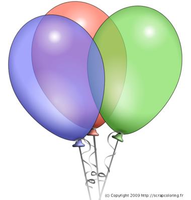 Chanson joyeux anniversaire centerblog - Dessin de ballon ...