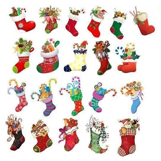 GOMMETTES PAPIERS / les chaussettes de Noël