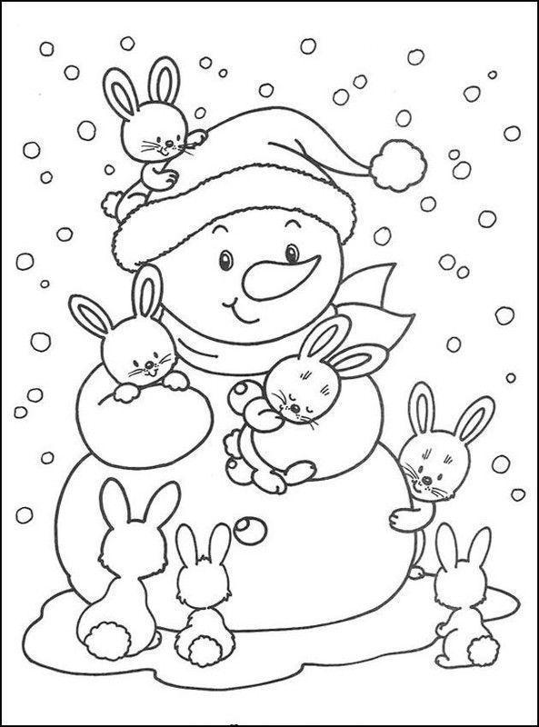 Coloriage bonhomme de neige - Modele bonhomme de neige ...