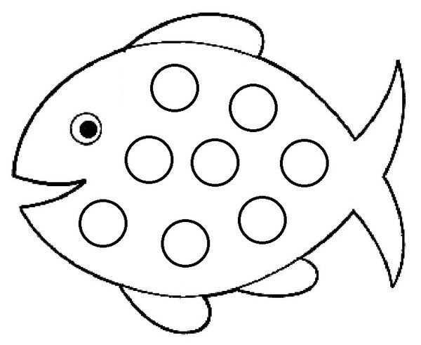 Coloriages comptines illustrees - Coloriage poisson avril ...